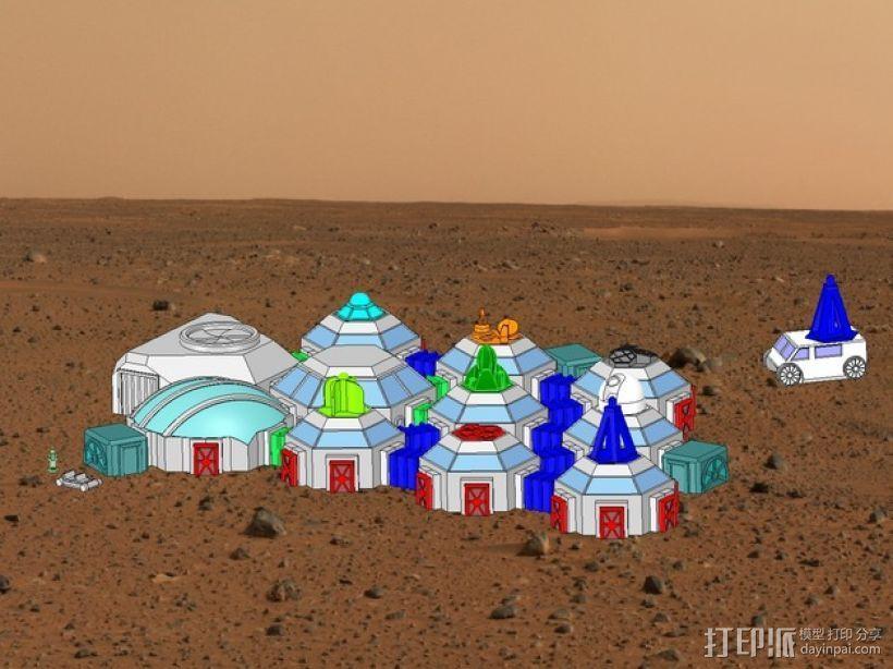 迷你火星基地模型 3D模型  图1