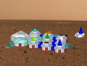 迷你火星基地模型 3D模型
