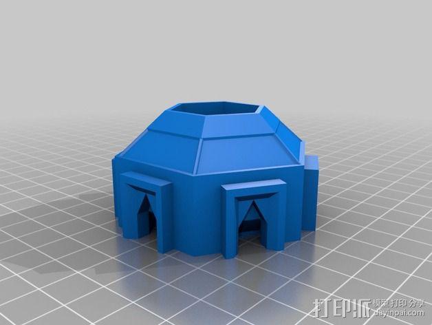 迷你火星基地模型 3D模型  图3