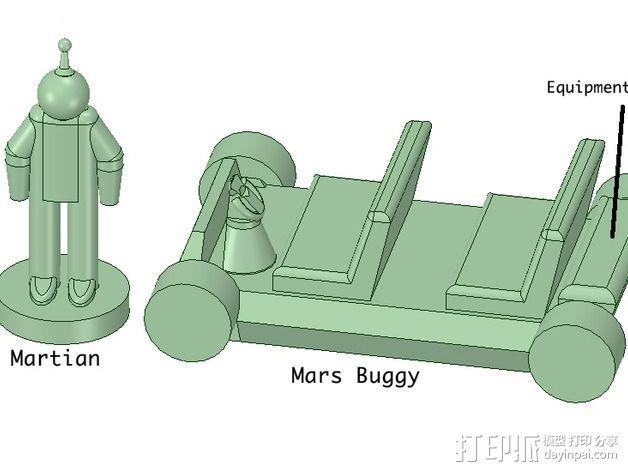 迷你火星基地模型 3D模型  图23
