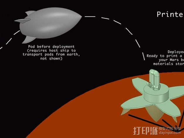 迷你火星基地模型 3D模型  图26