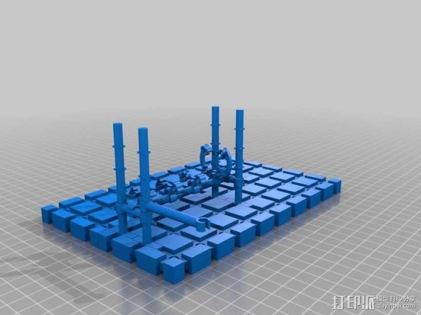LairdWarp过山车模型 3D模型  图1