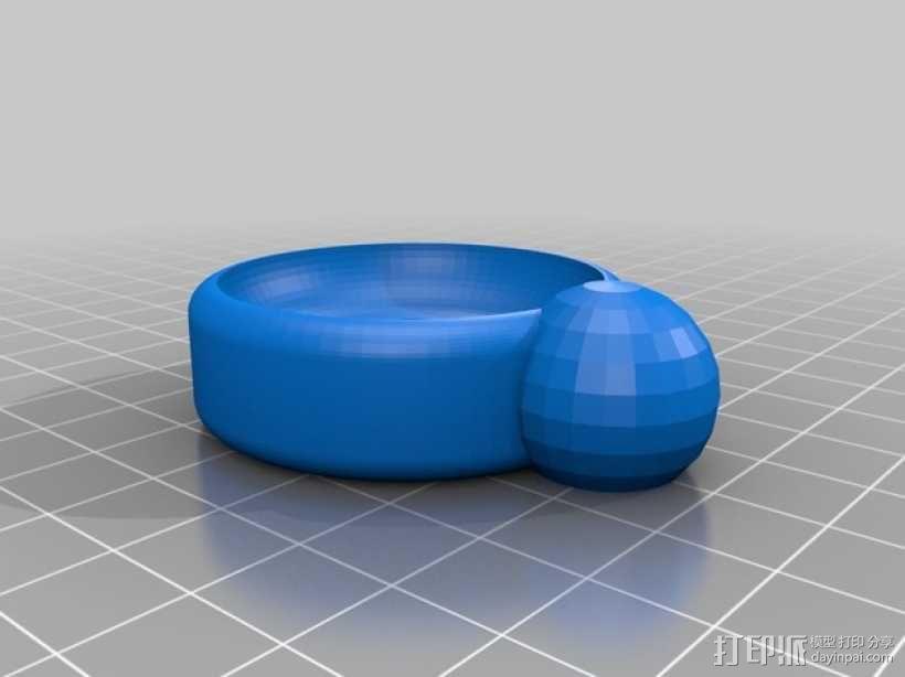 乐高迷你圣诞帽 3D模型  图3