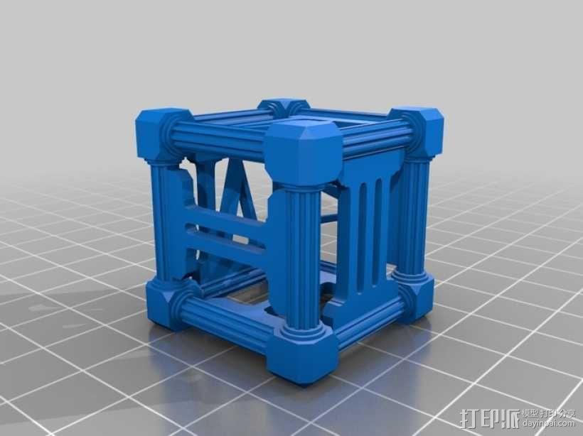 罗马数字骰子 3D模型  图1
