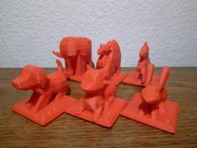 印度斗兽棋套件1 3D模型