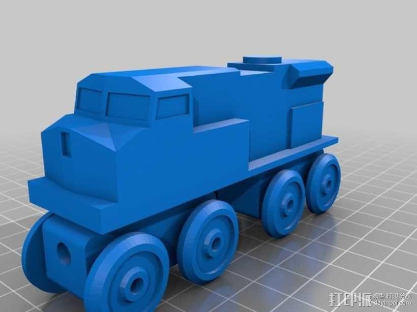 玩具火车柴油发动机模型 3D模型  图3