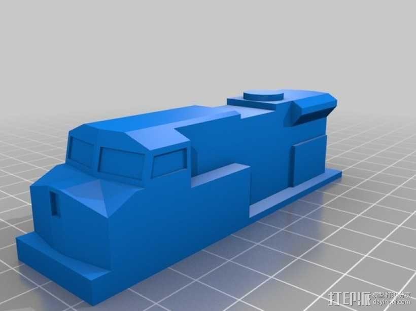 玩具火车柴油发动机模型 3D模型  图2