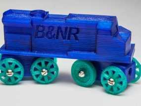 玩具火车柴油发动机模型 3D模型