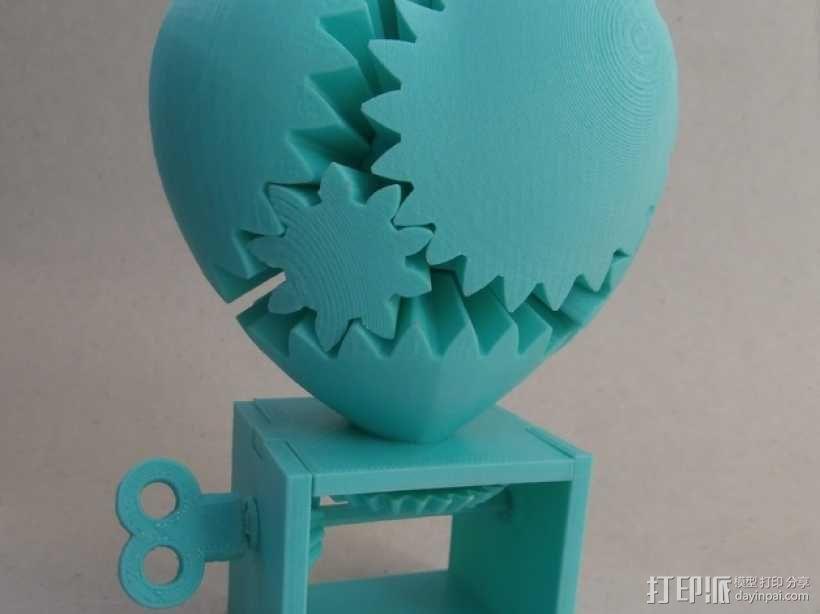 心形齿轮模型 3D模型  图1