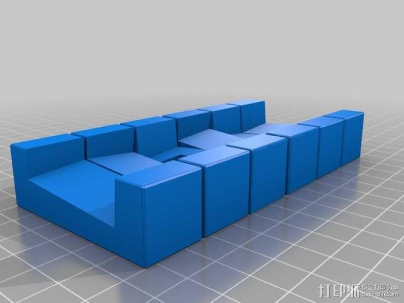 六面鲁班锁模型 3D模型  图4