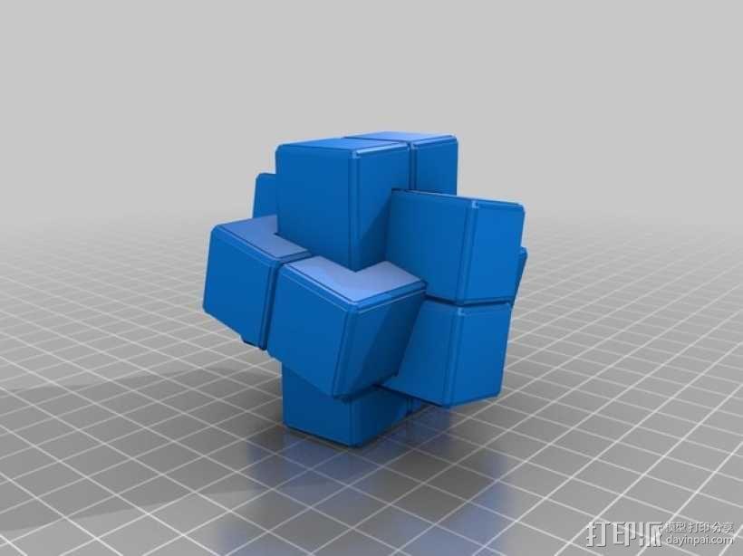 六面鲁班锁模型 3D模型  图6