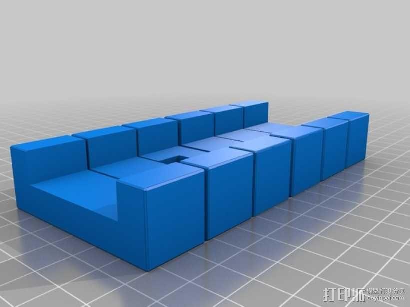 六面鲁班锁模型 3D模型  图5