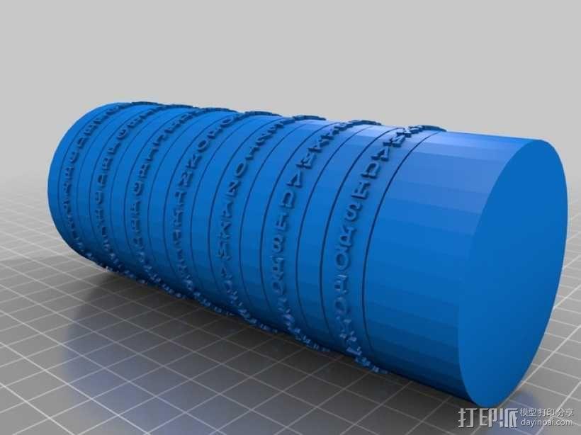 迷你密码筒 3D模型  图6
