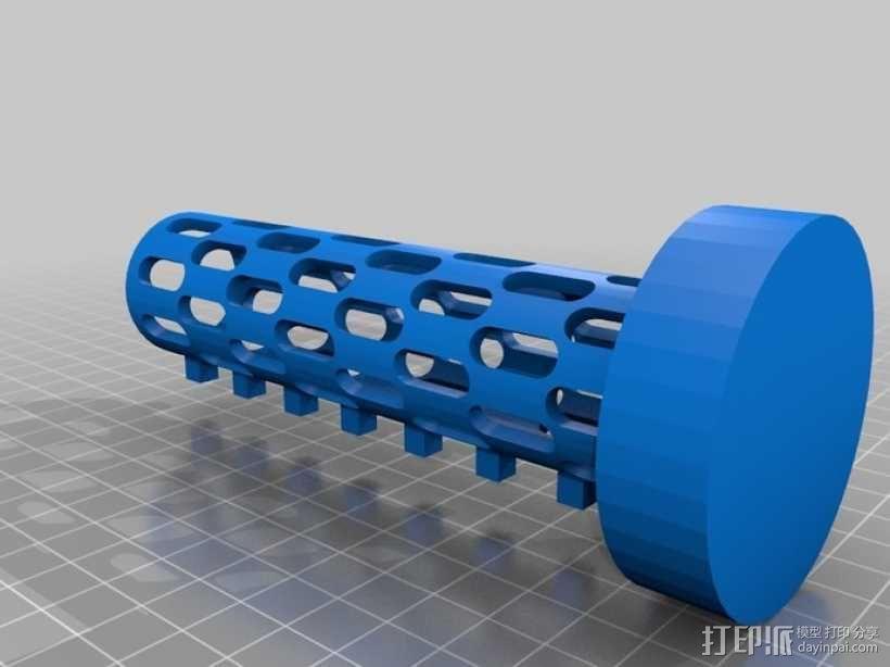 迷你密码筒 3D模型  图7