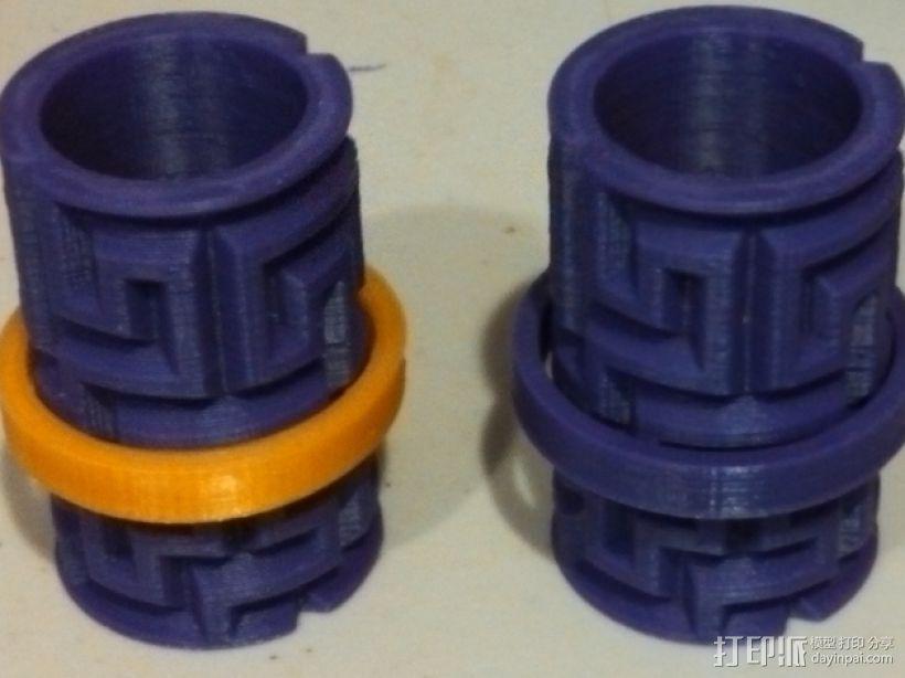 迷你圆柱体玩具 3D模型  图1