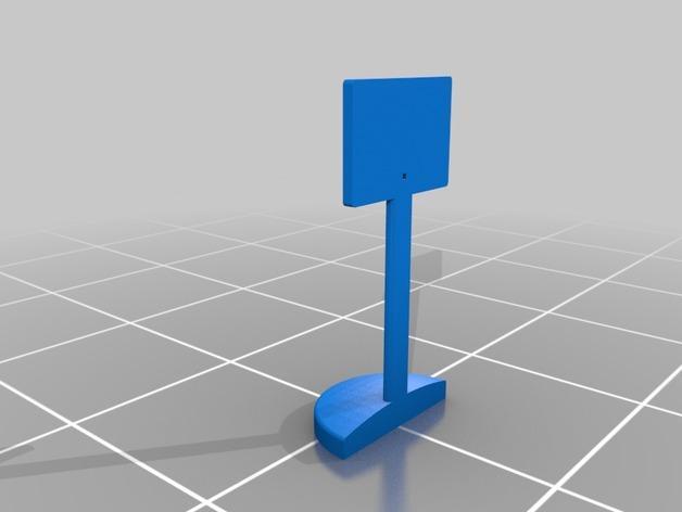桌面式篮球框 3D模型  图2