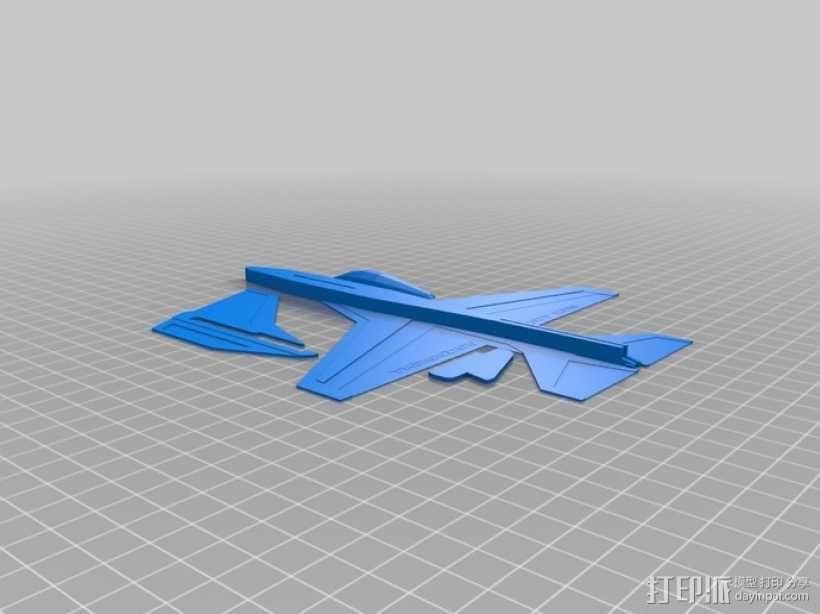 F16滑翔机模型 3D模型  图2