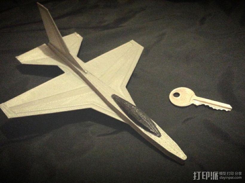 F16滑翔机模型 3D模型  图1