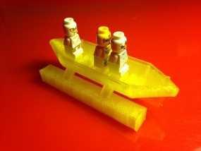 CGR平底船 3D模型