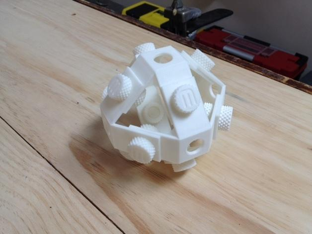 机械复古小球Makerball 3D模型  图1