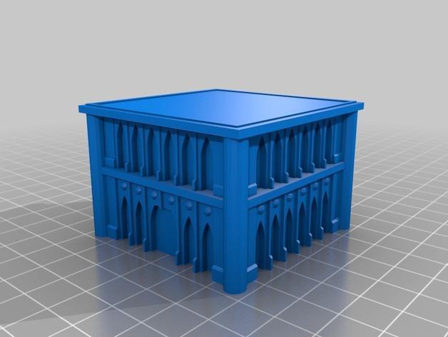 战锤Epic 40k:哥特式建筑 3D模型  图1