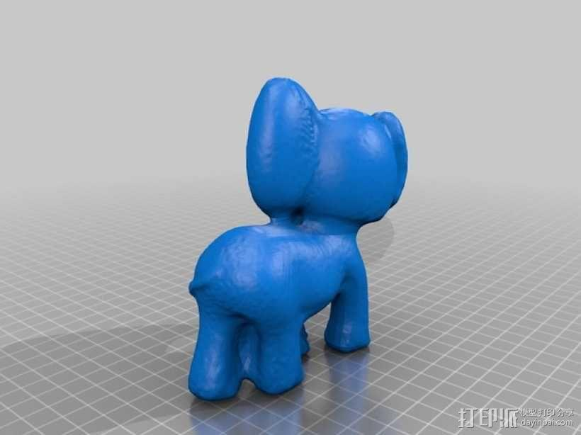 迷你小象模型 3D模型  图1