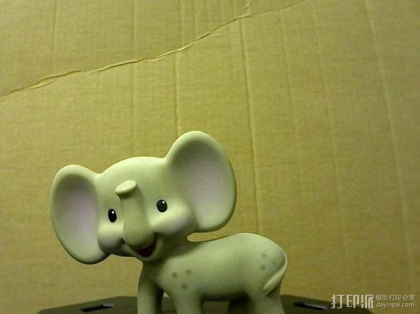 迷你小象模型 3D模型  图2