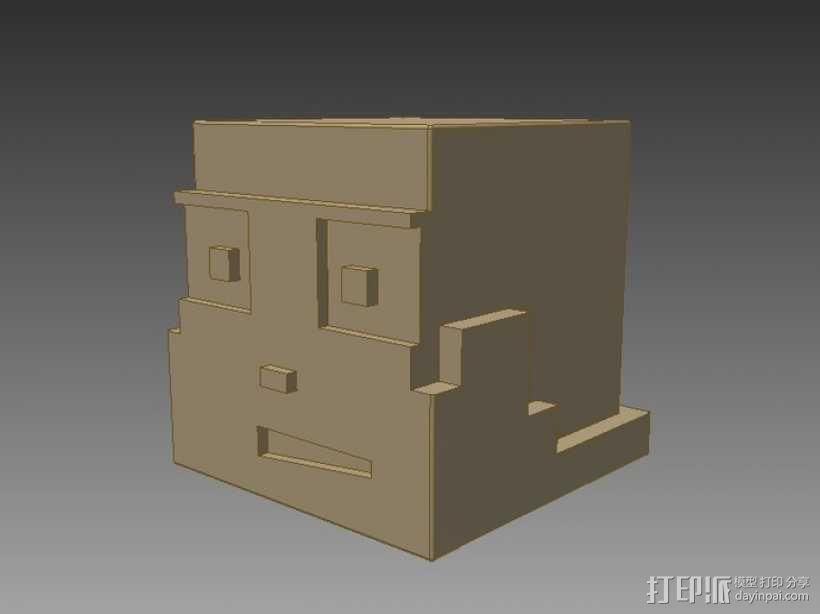 Minecraft:Steve头盔 3D模型  图2