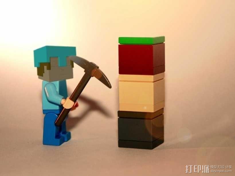Minecraft:Steve头盔 3D模型  图5