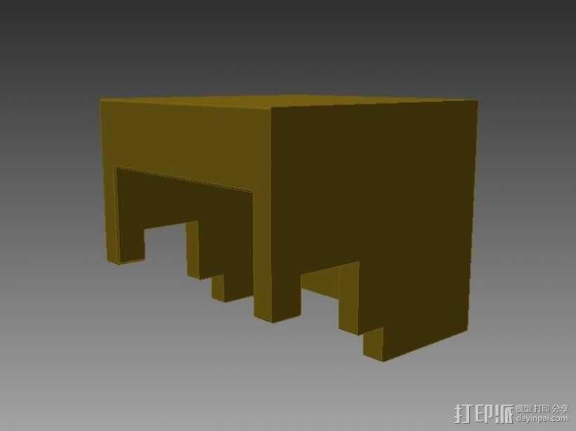 Minecraft:Steve头盔 3D模型  图3