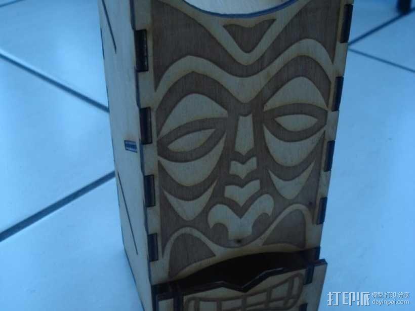 Tiki骰子塔模型 3D模型  图3