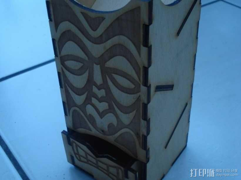 Tiki骰子塔模型 3D模型  图4