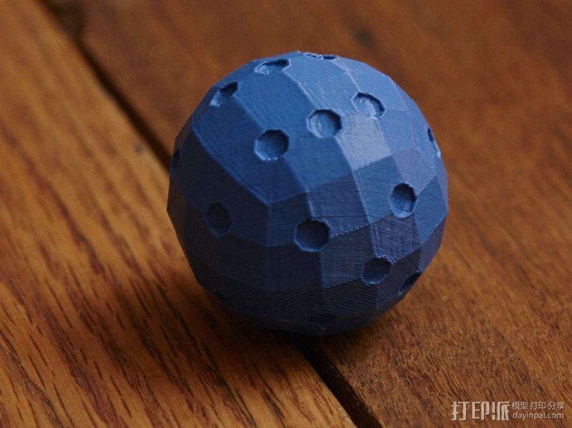 迷你球形骰子模型 3D模型  图1