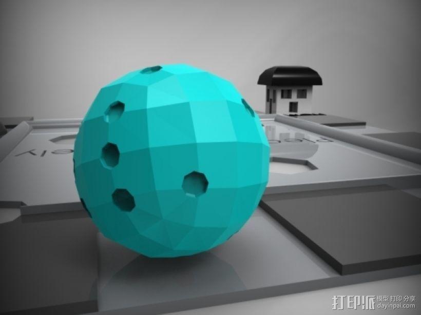 迷你球形骰子模型 3D模型  图4