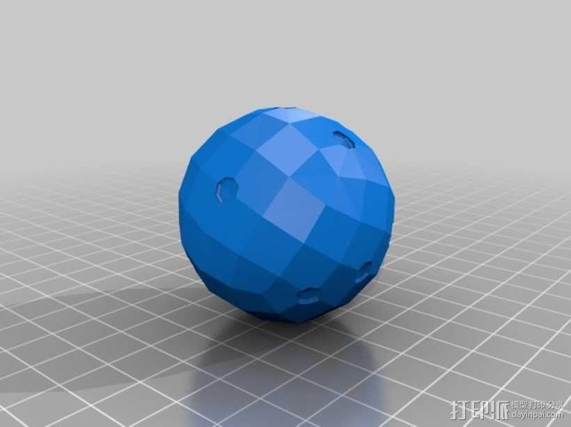 迷你球形骰子模型 3D模型  图3