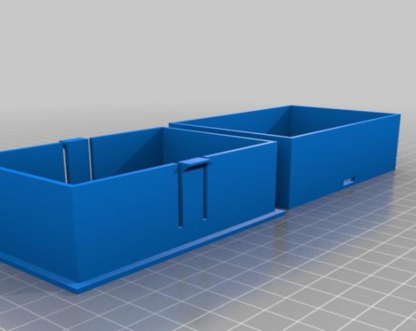参数化的卡片盒模型 3D模型  图1