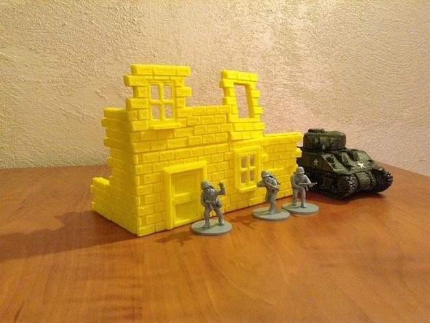 迷你墙壁模型 3D模型  图4
