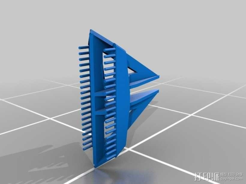 Delta船的船锚模型 3D模型  图3