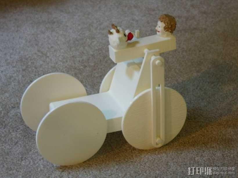 迷你手推车模型 3D模型  图1