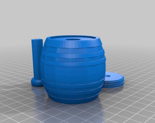 桶形小球迷宫模型 3D模型  图4