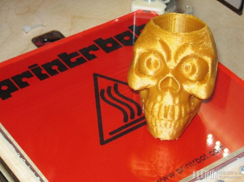 骷髅头形骰盅模型 3D模型  图1