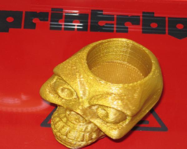 骷髅头形骰盅模型 3D模型  图2