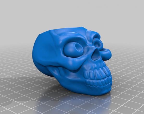 骷髅头形骰盅模型 3D模型  图3