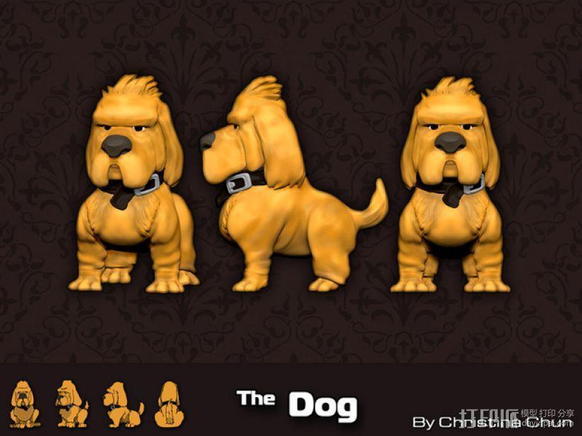 迷你小狗模型 3D模型  图1