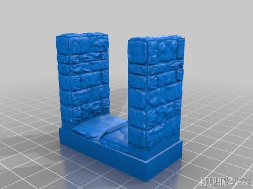 OpenForge地牢走廊模型 3D模型  图3