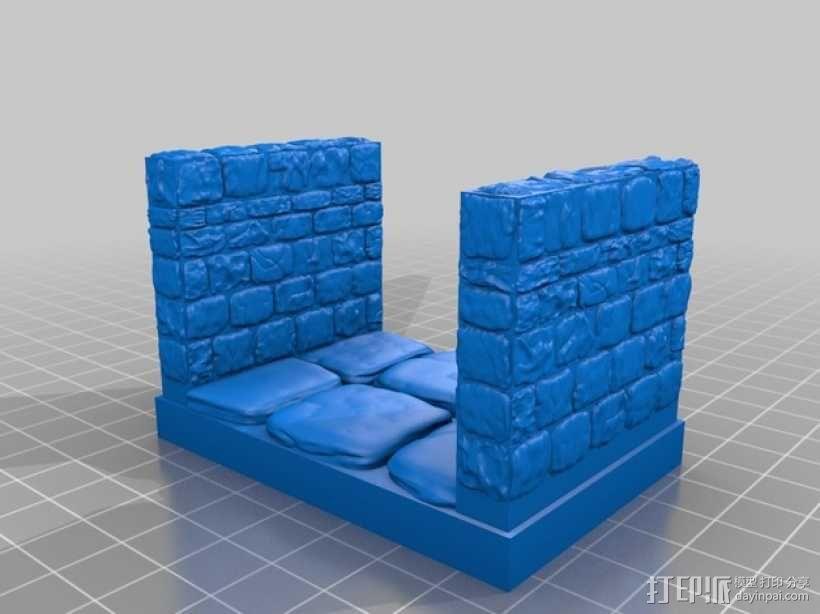 OpenForge地牢走廊模型 3D模型  图7