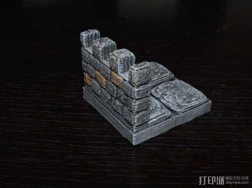 OpenForge雉堞墙 3D模型  图1