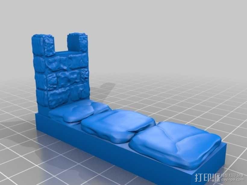 OpenForge雉堞墙 3D模型  图5