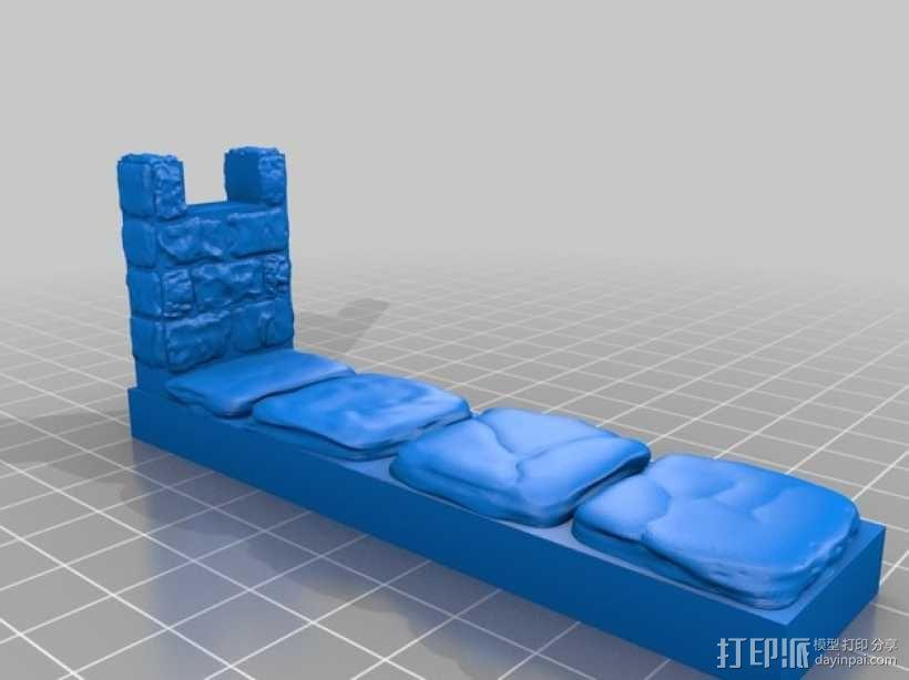 OpenForge雉堞墙 3D模型  图6