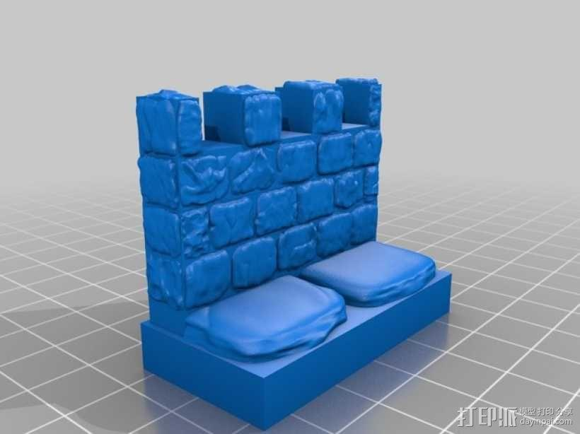 OpenForge雉堞墙 3D模型  图7